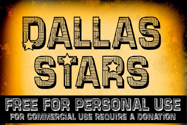 CF Dallas Stars Font