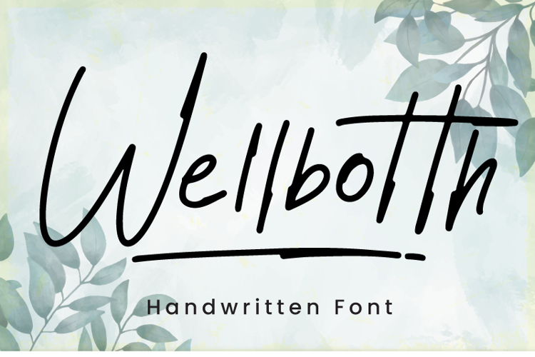 Wellbotth Font