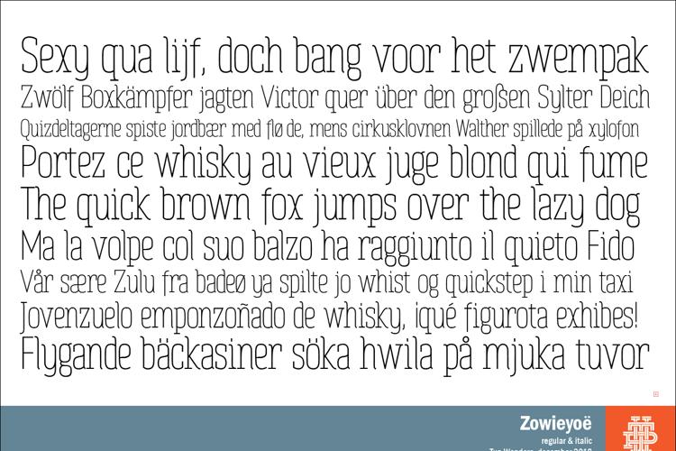 Zowieyoë Font