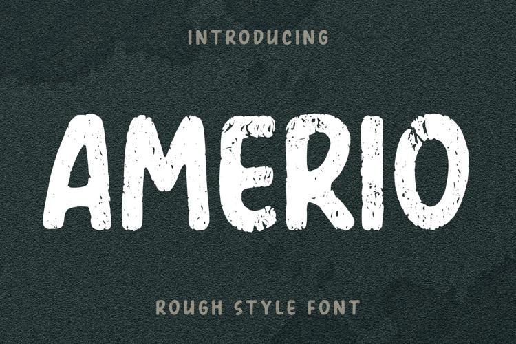 Amerio Rough Font