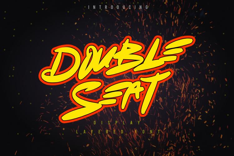 Double Seat Display Basics Font