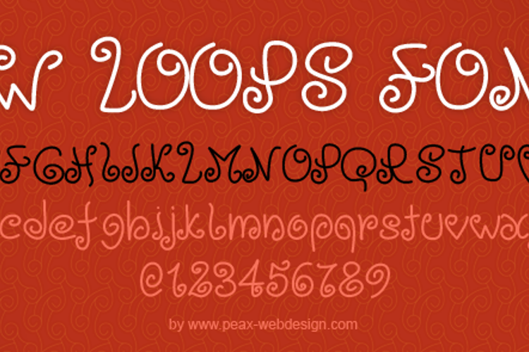 PWLoops Font