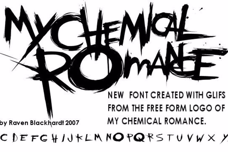 the chemical parade Font