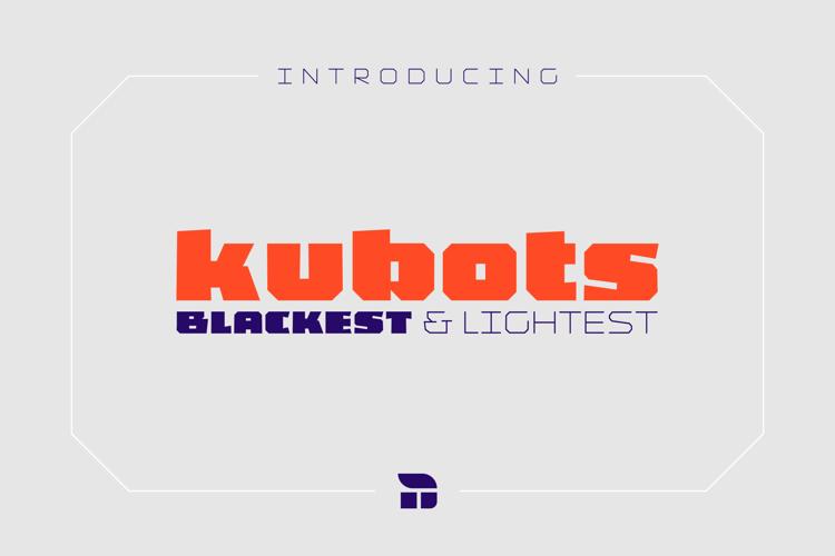 Kubots Extralight Font