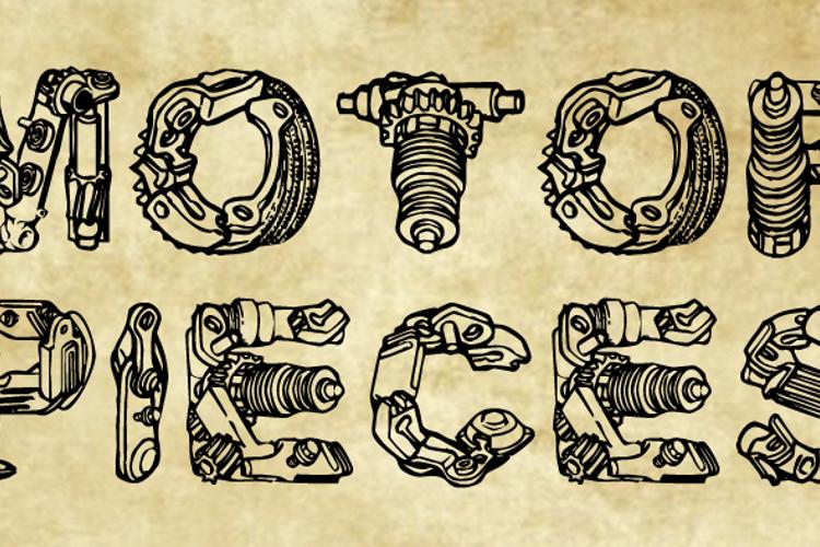 MotorPiecesDEMO Font