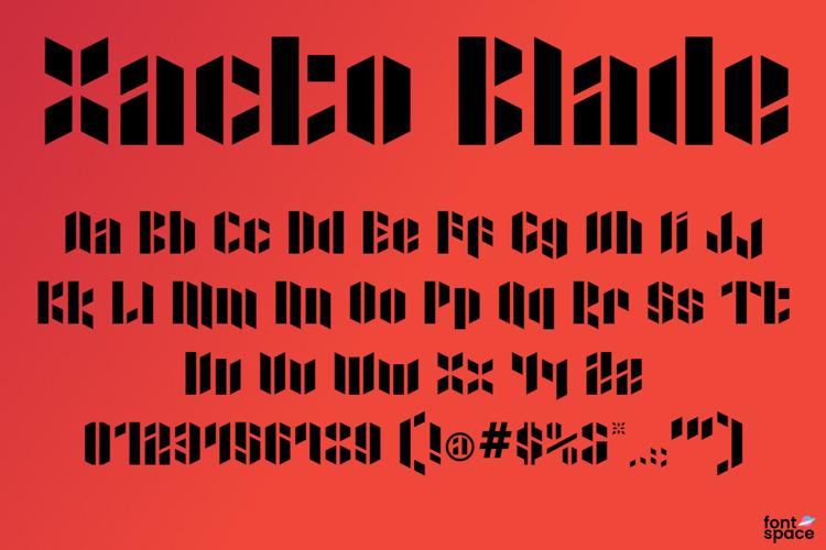 Xacto Blade Font
