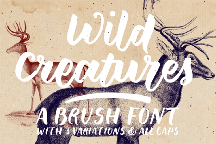 Wild Creatures Sample Font