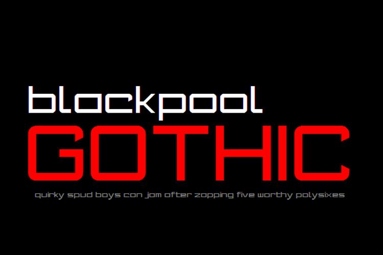 Blackpool Gothic NBP Font