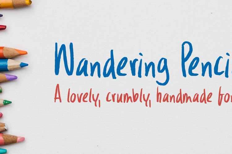Wandering Pencil Font