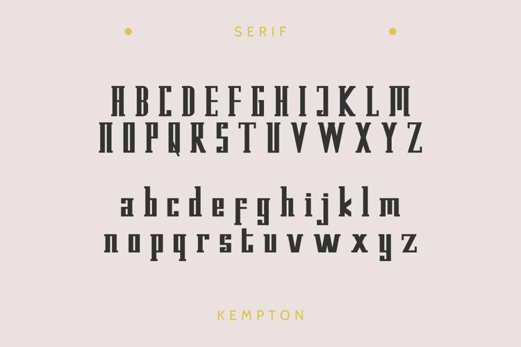 Kempton Serif Font