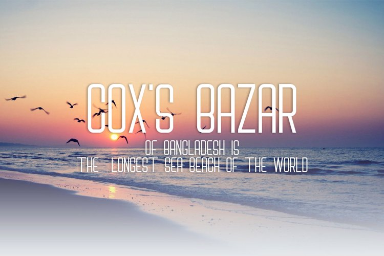 Cox's Bazar Font