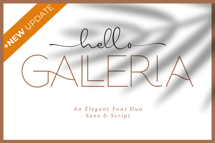 hellogalleriasans Font