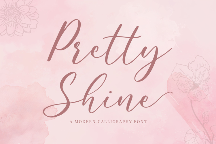 Pretty Shine Font