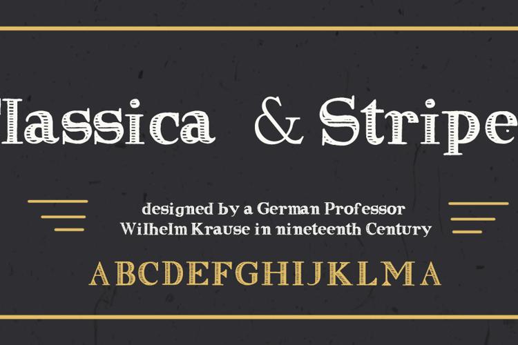 Clasica Striped Font