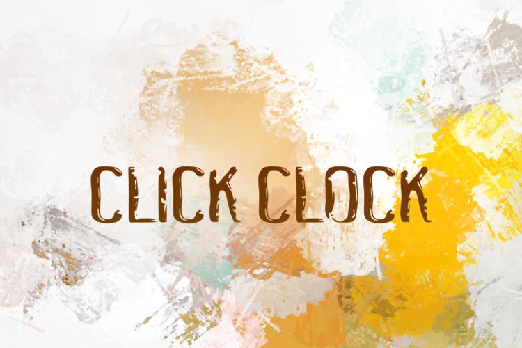 c Click Clock Font