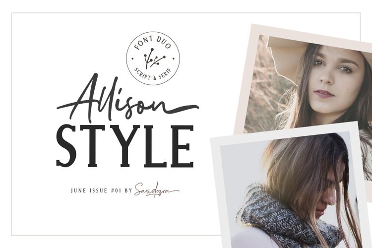 Allison Style Script Font