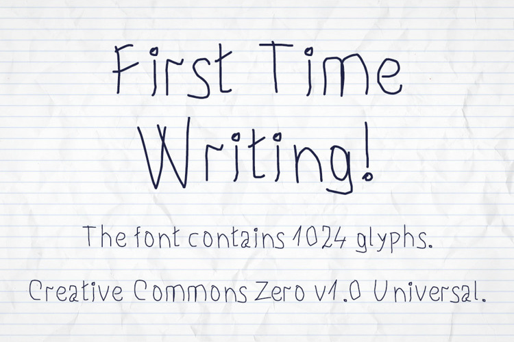 First Time Writing ! Font