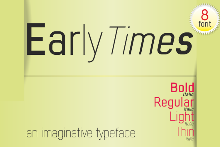 Early Times Demo Font