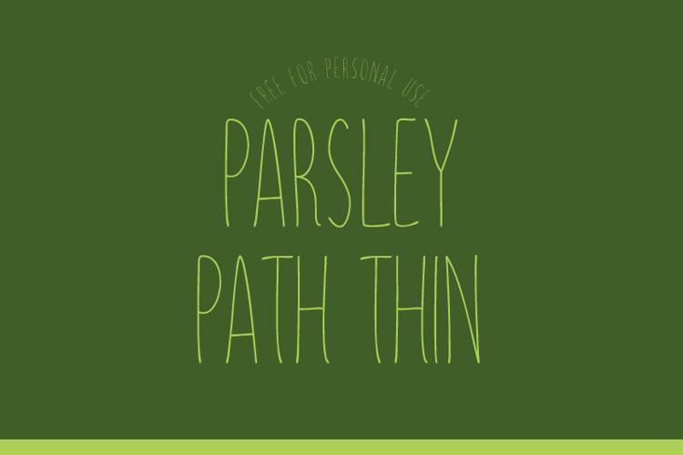 Parsley Path Thin Font