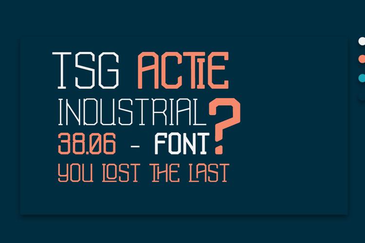 TSG Actie Font