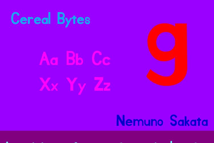 Cereal Bytes Font