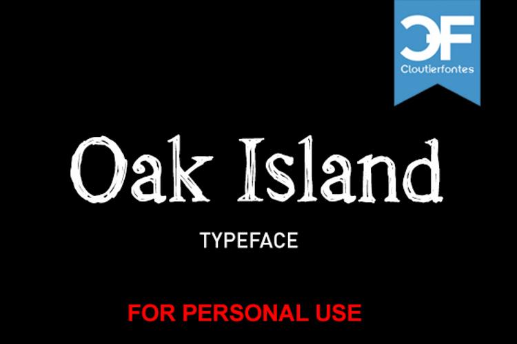 CF Oak Island PERSONEL Font