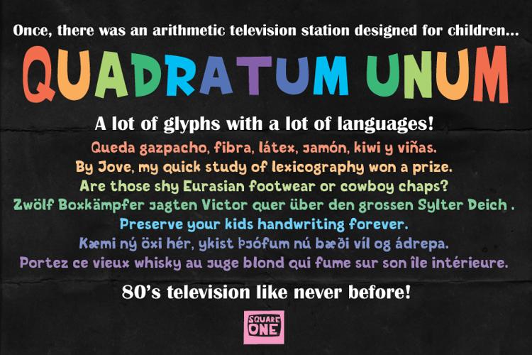 Quadratum Unum Font