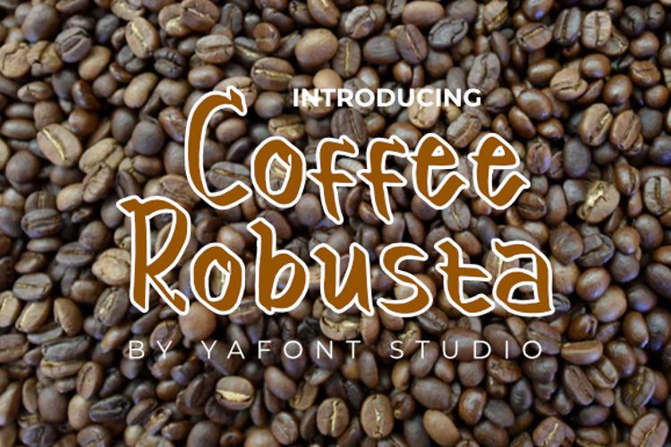coffee Robusta Font