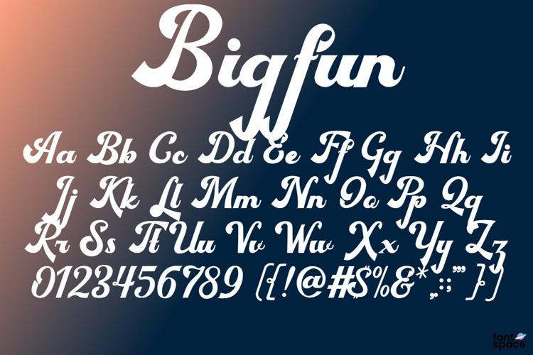 Bigfun Font