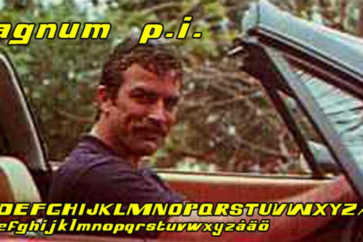Magnum p.i. Font