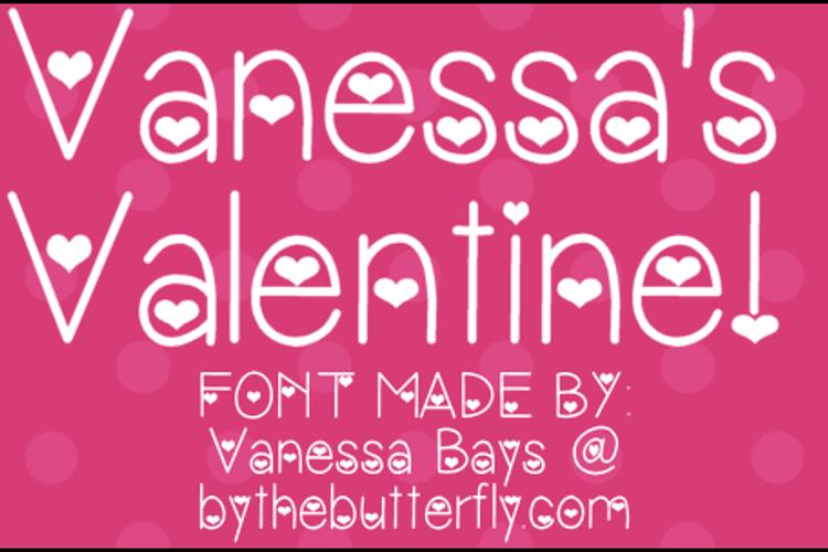 Vanessa's Valentine Font