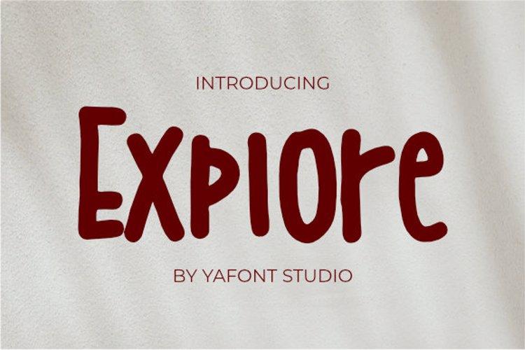explore Font