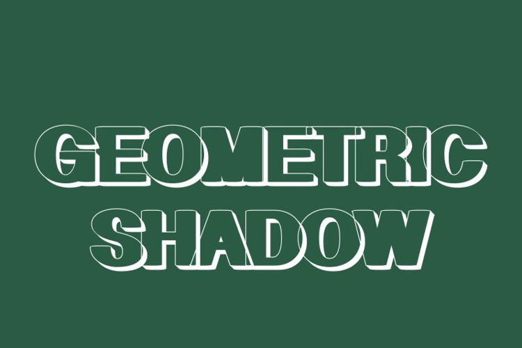 Geometric Shadow Font