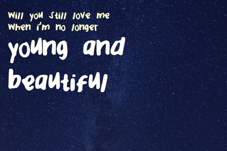 Young and Beautiful Font