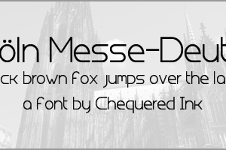 Koln Messe-Deutz Font