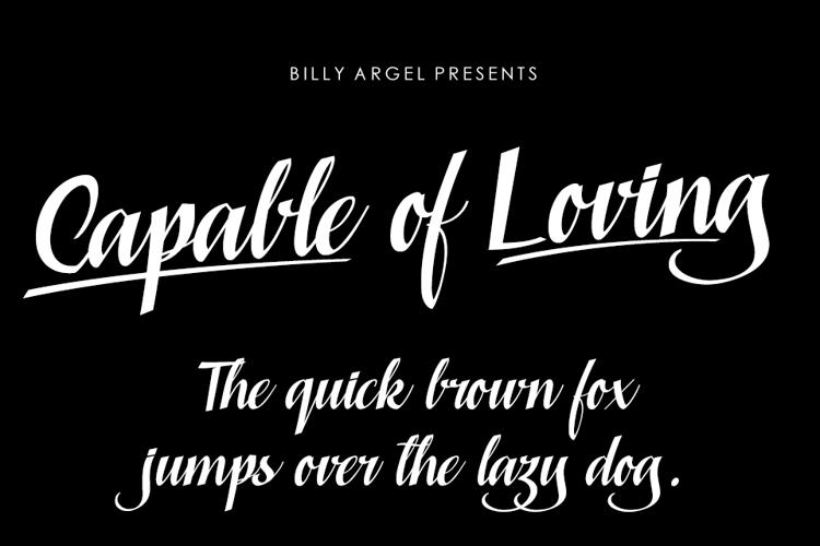 Capable of Loving Font
