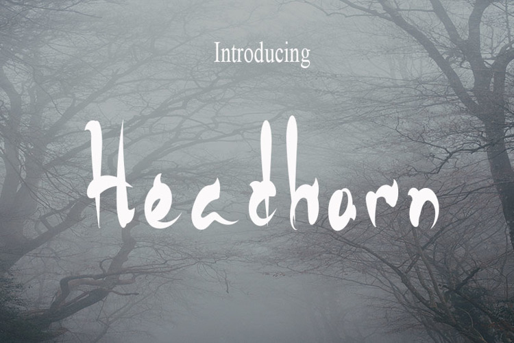 HeadHorn Font
