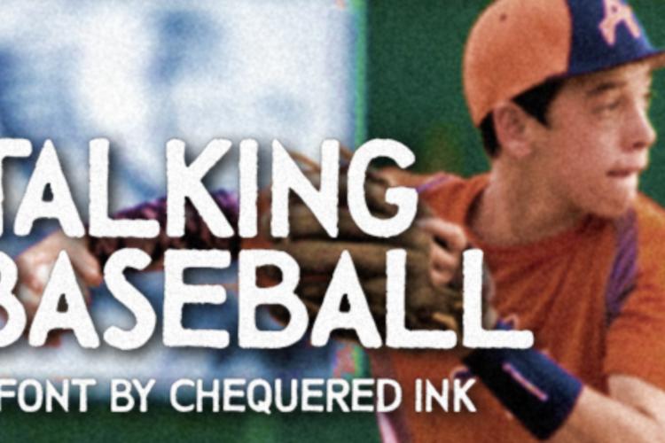 Talking Baseball Font