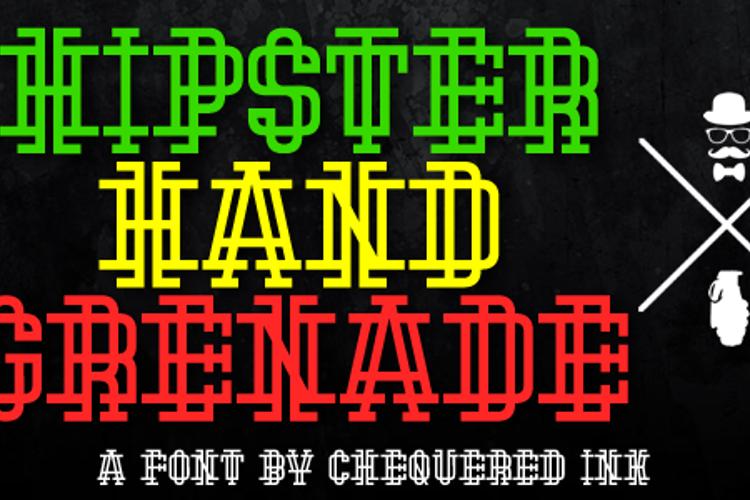 Hipster Hand Grenade Font