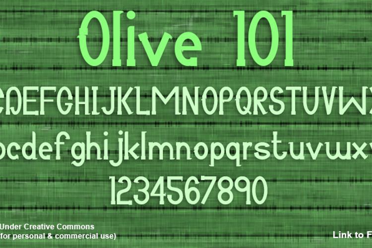 Olive 101 Font