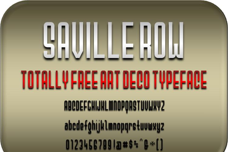Saville Row NBP Font