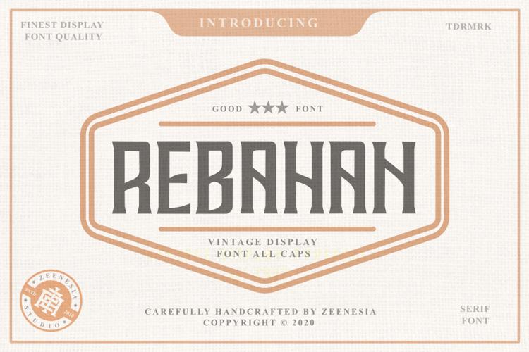 REBAHAN SERIF Font