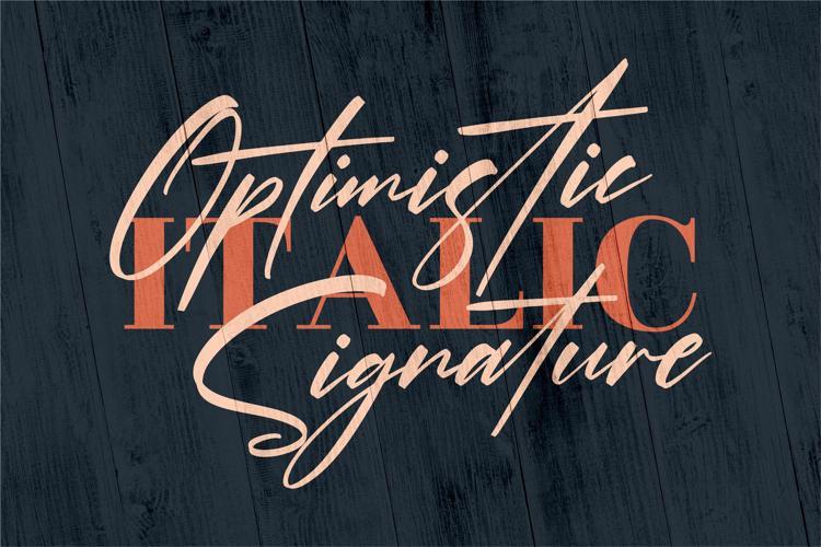 Optimistic Signature Font