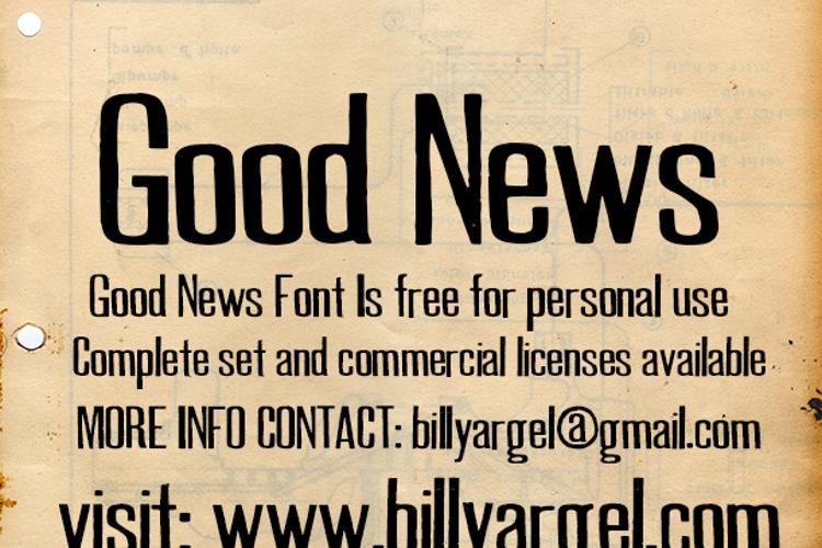 GOOD NEWS Font