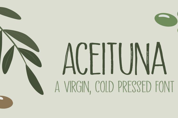Aceituna DEMO Font