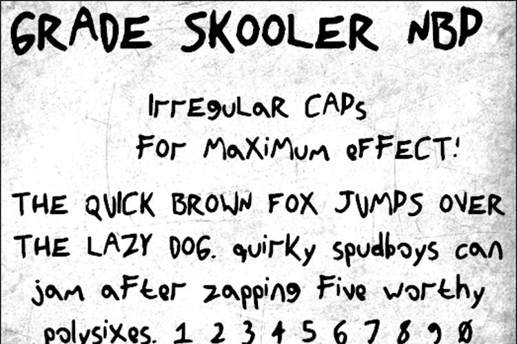 GradeSkoolerNBP Font