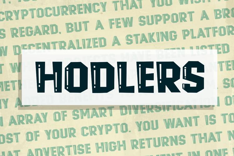 Hodlers Font