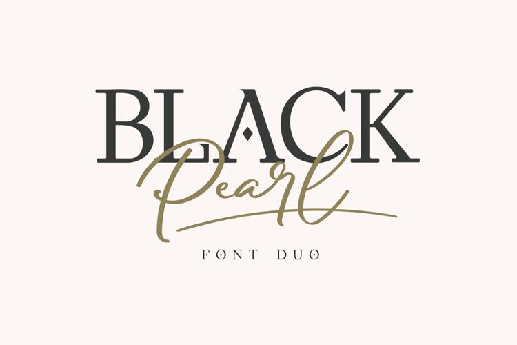 Black Pearl Serif Font