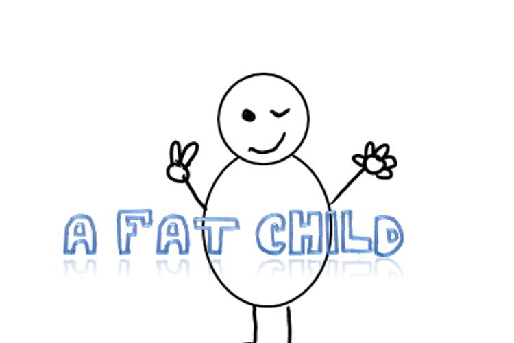A fat child Font