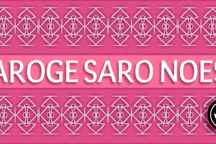 Varoge Saro Noest Font